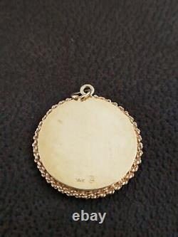 LARGE Vintage 14K Gold GEMINI ZODIAC SIGN CHARM PENDANT