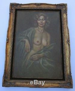 Large Finest Irene Spencer Original Oil Painting Nude Female Woman Model Vintage