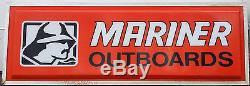Large Vintage Mercury MARINER OUTBOARDS Dealer Sign, 2 Sided Display Light MAINE