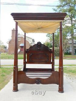 Monumental Walnut Victorian Tester BedSigned C Lee