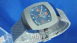 NOS Vintage Astromatic X Star Sign Cancer Automatic Watch 1970s Swiss BF 158