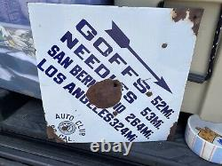 Nevada Road Sign So Cal Auto Club Vintage Porcelain From Nevada