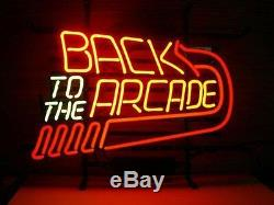 New Back To The Arcade Vintage Beer Neon Sign 20x16