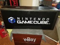 Nintendo Gamecube Box Light Sign Translite Rare Vintage Store Display