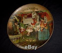 OLD RARE 1890s Pre Pro Vintage LEMP BEER Graphic Sir Falstaff Tin Charger Sign