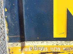 OLD VINTAGE 1939 SUNOCO GAS STATION ADVERTISING SIGN NO PORCELAIN DEALERSHIP OIL