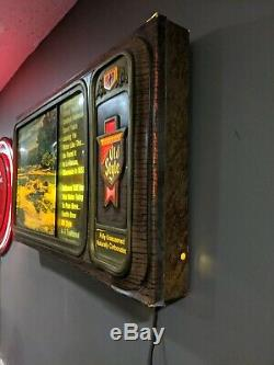 Old Style Beer Scrolling Motion Television Water Lighted Sign Vintage