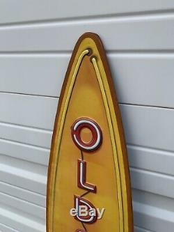 Oldsmobile Sign Vintage Style Neon Look Rocket 8 Gas Oil Garage Wall Art Decor