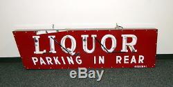 Original 1940s Porcelain Liquor Neon Sign Vintage Advertising Federal Sign