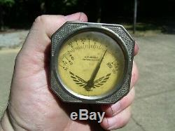 Original 1950s Auto Thermometer gauge Visor vintage scta GM Ford Chevy accessory