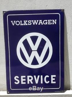Original VW Enamel Sign Porcelain Service Vintage VOLKSWAGEN 1960s Old NOS