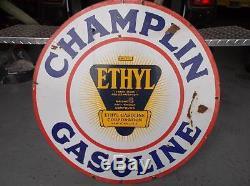 Original Vintage Champlin Ethyl Corporation Gasoline Sign