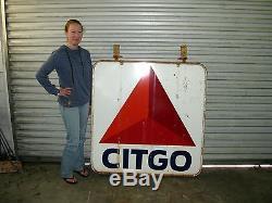 Original Vintage Citgo Gas Porcelain Sign