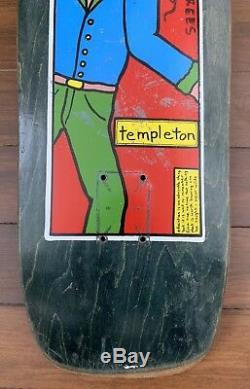 Original Vintage Ed Templeton The New Deal Skateboard Deck SIGNED 1991 RARE
