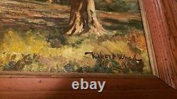 Original Vintage Oil Painting by Robert W. Wood (1889 1979 Bishop, CA)
