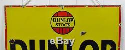 Original Vintage c1930 Dunlop The First Tyre In The World Enamel Sign