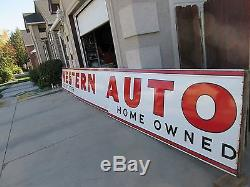 Outstanding 25 FOOT Vintage Porcelain Western Auto Sign