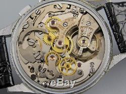 Oversized 3x signed vintage 1950s HELBROS fly-back chronograph mechanical watch