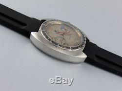 Oversized 4x signed vintage 1972 TISSOT Seastar chronograph watch Valjoux 7734
