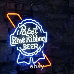 Pabst Blue Ribbon Neon Sign Beer Pub Club Light Man Cave Vintage Patio Bistro