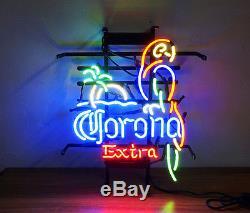 Parrot Corona Extra Neon Sign Pub Bar Beer Night Club Artwork Vintage Bistro