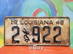 Pelican Louisiana License Plate Vanity Tag Sign Vintage Ratrod Cajun Car Lot 22