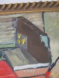 Peterson Oil Painting Vintage Abstract Expressionism Modernism Cubist Cubism