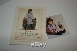 Pleasant Company American Girl SAMANTHA doll SIGNED MIB