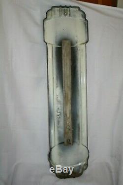 Prestone Anti Freeze 36 Gas Oil Porcelain Metal Thermometer Vintage 1940's EC