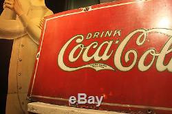 RARE EARLY Antique VTG ORIG 1920s Coca Cola Porcelain Sign AD Prescriptions SODA