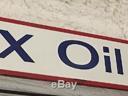 RARE ORIGINAL VinTage SUNRAY DX OIL CO. PORCELAIN Transitional Sign Gas STATION