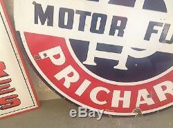 RARE ORIGINAL Vintage ANDERSON PRICHARD MOTOR FUELS PORCELAIN sign GAS oil DSP