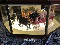 RARE Vintage Budweiser Clydesdale Octagon Carousel Motion Sign / Light