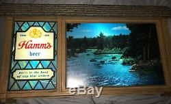 RARE! Vintage HAMM'S BEER SCENE-O-RAMA CAMPFIRE WATERFALL SCROLLING MOTION SIGN