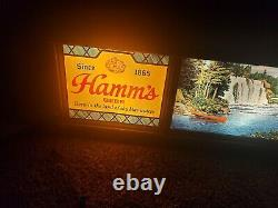 RARE Vintage HAMM'S BEER SCENE-O-RAMA CAMPFIRE WATERFALL SCROLLING MOTION SIGN