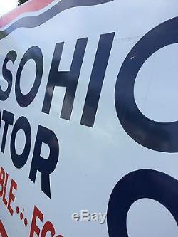 RARE Vintage Original SOHIO Motor Oil LARGE Gas Service Station Porcelain Sign