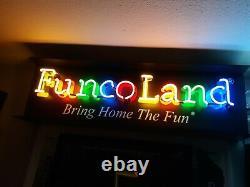 Rare! Funcoland Neon Sign Display Vintage Gamestop Nintendo