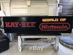 Rare! Kay-Bee World Of Nintendo Fiber Optic Sign Display Vintage KB Toys