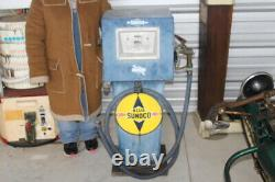 Rare Model & Size Vintage 1960's Sunoco Metal Gas Pump Gas Station Sign