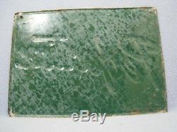 Rare Vintage Embossed Original Perfection Milkers Metal Farm Sign