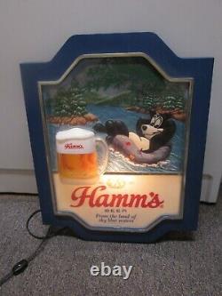 Rare Vintage Hamm's Lighted Beer Sign