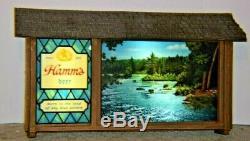 Rare Vintage Hamm's Motion Beer Sign Scene-O-Rama 1960's Canoe & Waterfalls