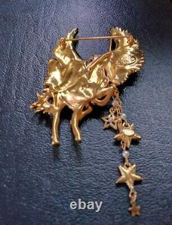 Rare Vintage Kirks Folly Signed Cloudwalker Unicorn/pegasus Pin Brooch
