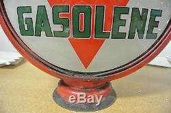 Rare Vintage Original Paragon Gasoline Gas Pump Globe No Reserve