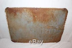 Rare Vintage c1940 Orange Crush Handipak Soda Pop Bottle 28 Embossed Metal Sign