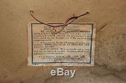 Rare Vintage c. 1900 Bain Wagon Co. Horse Drawn Feed Seed Farm 19 Metal Sign