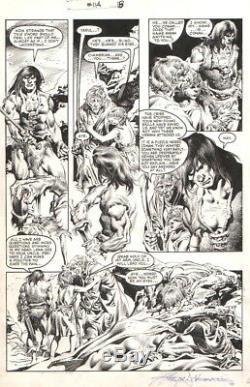 Rudy Nebres Signed Vintage 1985 Savage Sword Of Conan Orig. Art! Free Shipping
