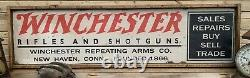Rustic Vintage Style Winchester Ammo Wooden Sign 12x48 AWESOME DISPLAY