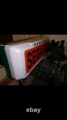 Sega RALLY VTG 80s Authentic DISPLAY SIGN LIGHT UP Retail STORE / GAME ROOM! RARE