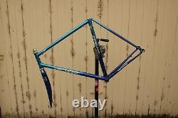 Serotta CSI Steel Road Bike Frame F1 Fork 56cm Fade Signed Blue Colorado Vintage
